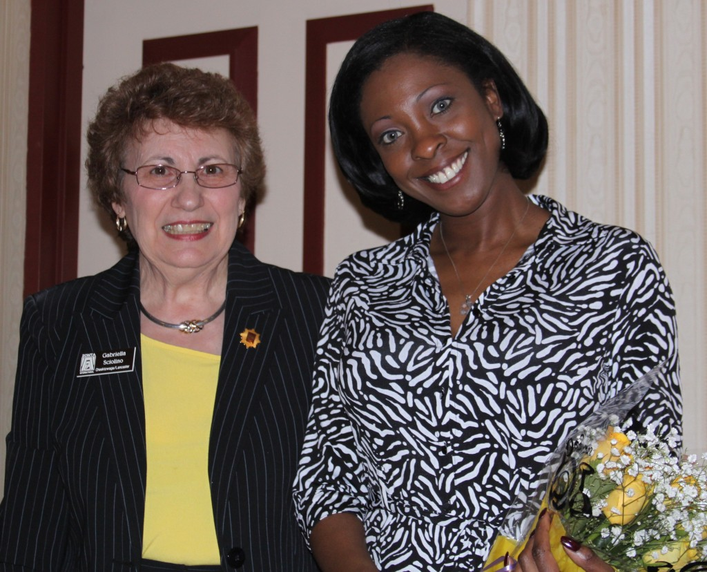 Marie-Ruth Dubuisson received our   Educational Scholarship for Women.  Marie-Ruth, born in Haiti, is a part-time French teacher in Lancaster.  She is pursuing a Masters in Education.